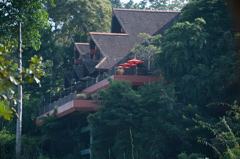 The second hotel was perched up on a hill overlooking the grounds below where the elephants and wildlife were.
