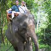 Elephant riding tour