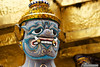 Timeless face - Sculpture at the outside of the Wat Phra Kaeotem