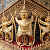 Garuda figures adorning the exterior of the Temple of the Emerald Buddha, Grand Palace complex, Bangkok.