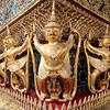 Garuda figures adorning the exterior of the Temple of the Emerald Buddha, Grand Palace complex, Bangkok.