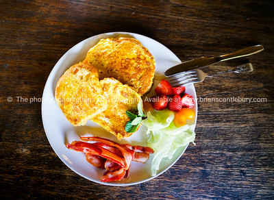 Real food breakfast tasty selection cooked and fresh on white plateReady to eat breakfast.