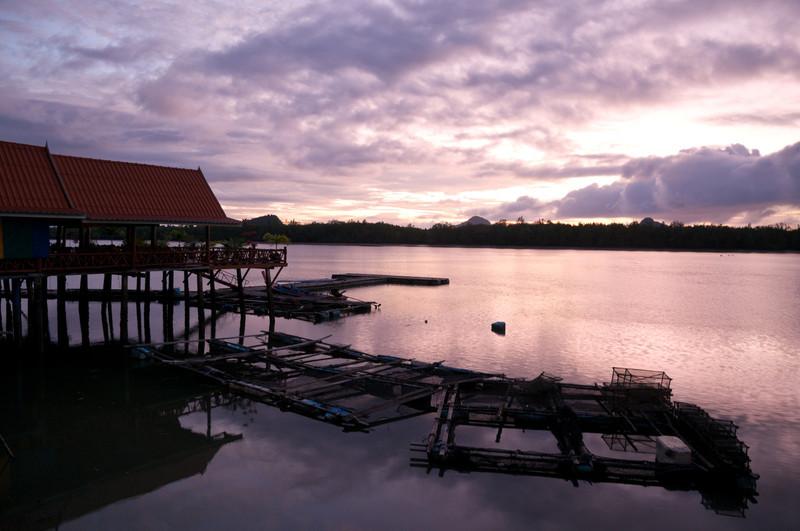 Sunrise at Ko Panyi, a floating Muslim village in Phang Nga Bay, Thailand.