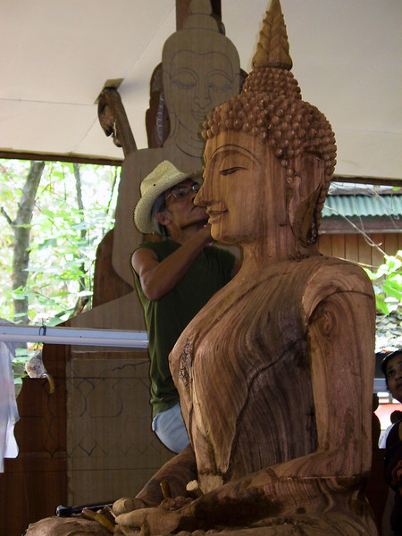 Beautiful wood carving in Thailand