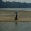 Fisherman on a spit near Krabi