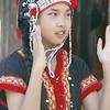 Tribal girl dancing at Doi Shutep.