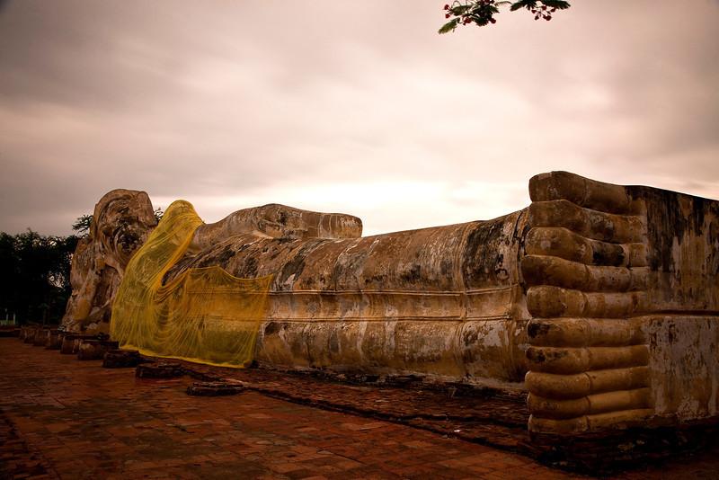 Reclining Buddha in Ayutthaya.