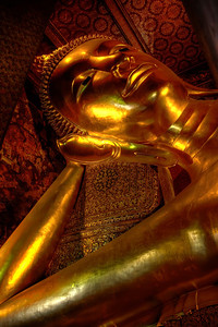 Reclining Buddha. Bangkok, Thailand.