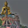 Enormous Buddha on the Mekong