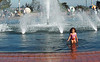 Little Girl Playing in Fountain at Balboa Park