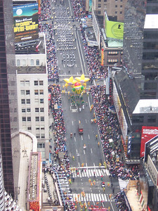 Checking out the parade from our hotel room at the W.