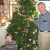 Eric and Dad decorating the tree