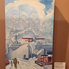 22 November 2017. The Seabee Museum in Port Hueneme, near Ventura. Antarctica section. Painting by Robert Charles Haun. See https://www.history.navy.mil/our-collections/art/artists/the-art-of-robert-charles-haun.html
