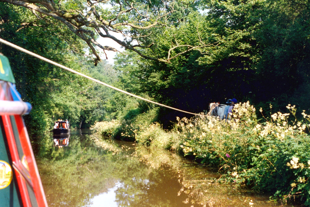 1997-07-21 One horse power pulls us along the canal.