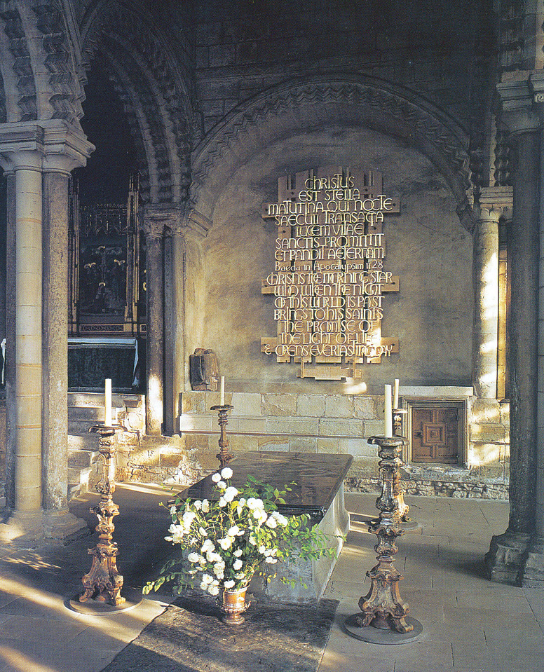 1997-07-28 Postcard of The Venerable Bede's tomb.
