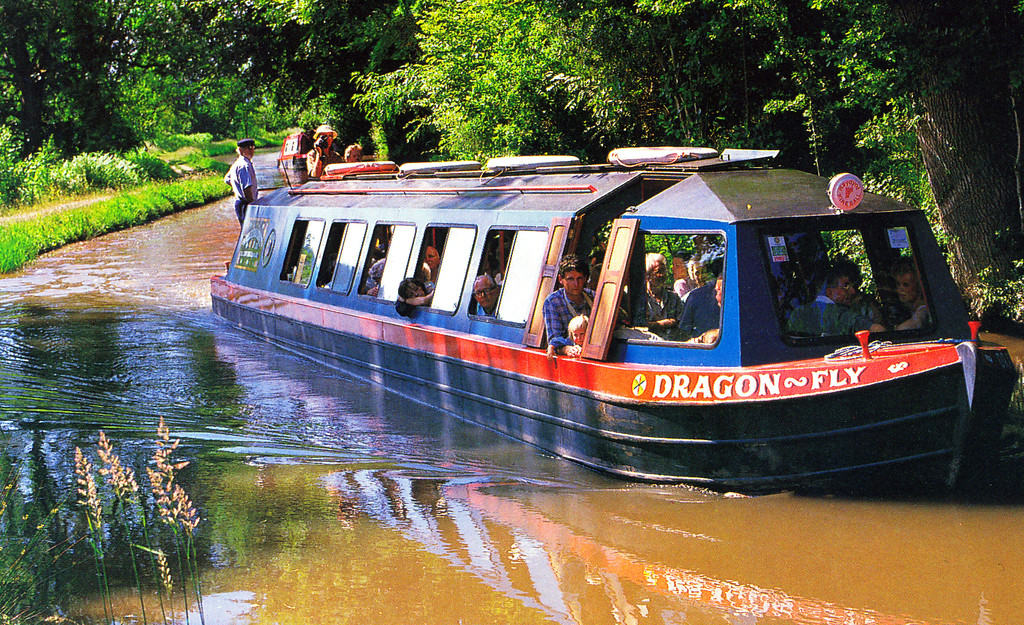 1997-07-21 Postcard of our boat on the canal.
