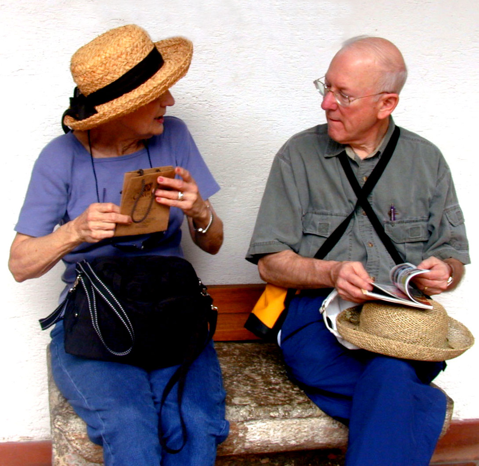 Mar 17.  At a jade store Betty bought a small turtle of black jade, rare in Guatemala.  She is about to show it to Charles.