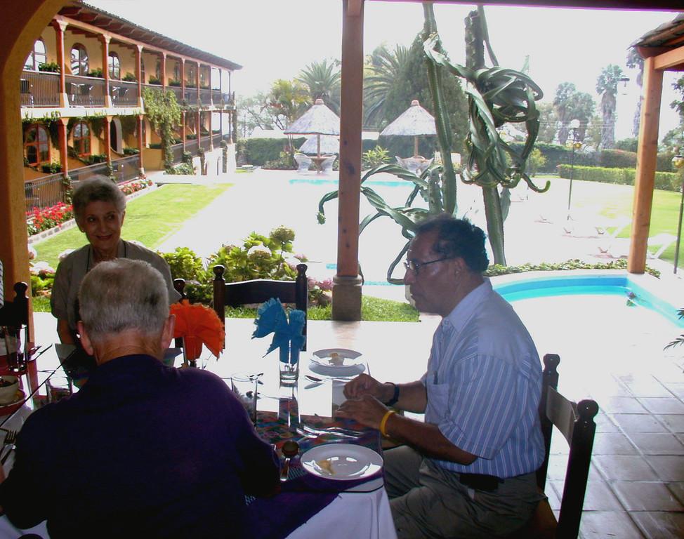 Mar 18.  Dinner at a restaurant in San Catarina Palopo.