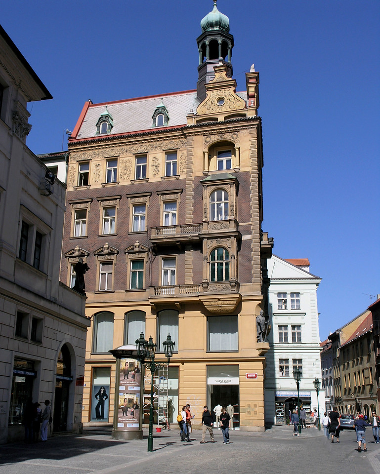 "April 14.  Prague, Czech Republic.  We made a walking tour of Prague, and I include scenes around town.  Our tour book says Prague has ""many wonderful Gothic and baroque buildings."""
