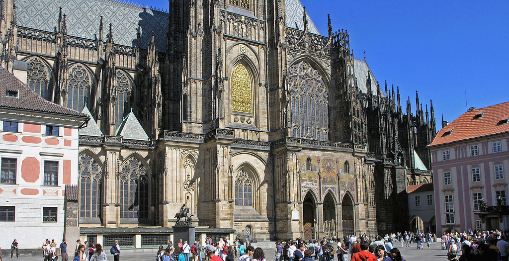 April 15.  The 14th century Gothic St Vitus Cathedral.