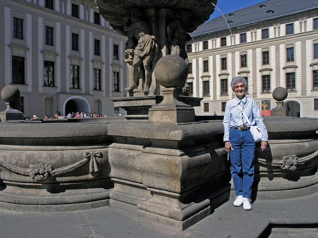 April 15.  A fountain in the area.
