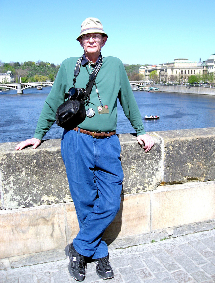 April 14.  On the Charles Bridge in Prague.