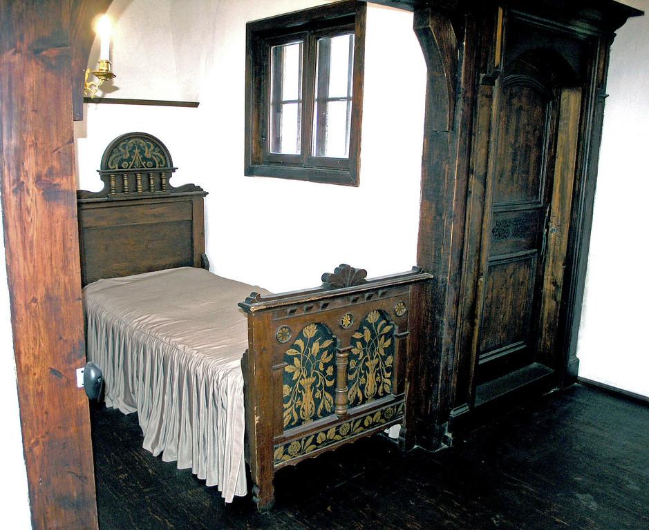 April 26.  A bedroom.