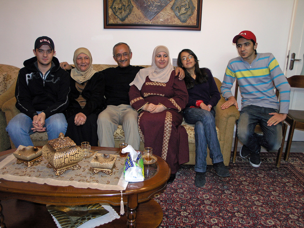 Feb 17.  This is the host family, including three children and the husband's mother, who lives with them.