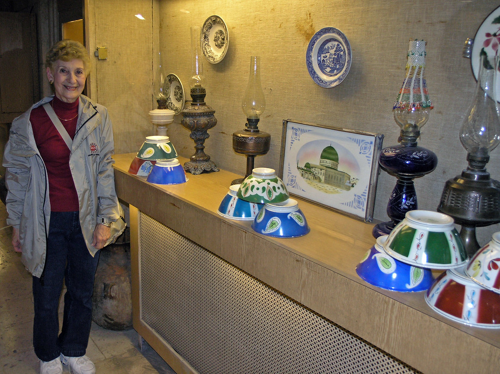 Feb 17.  Betty and a display in the Folklore Museum.