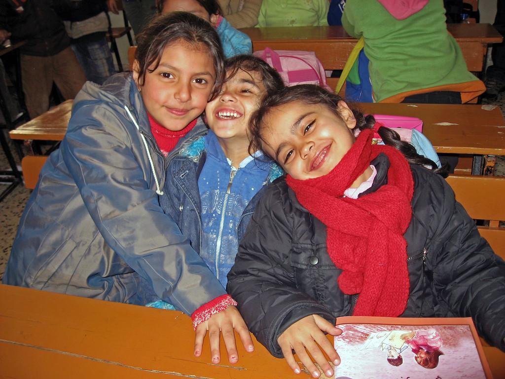 Feb 18.  Three happy girls.