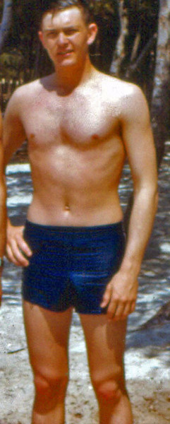 I don't know what that creature was that crawled out of the Dead Sea.  However, this is a picture of me when I was a human being.  It was made on a beach in Taranto, Italy, 1954 May 30, when I was in the U. S. Navy, saving the world from Communism.