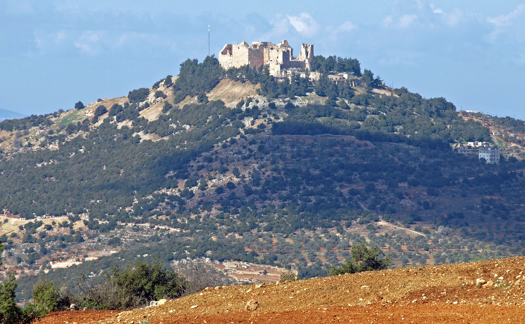 "Feb 18.  The Saracens' Castle at Ajloun, built in 1184 ""to deter the Franks from invading Ajloun and to protect the trade and commercial routes between Jordan and Syria."""