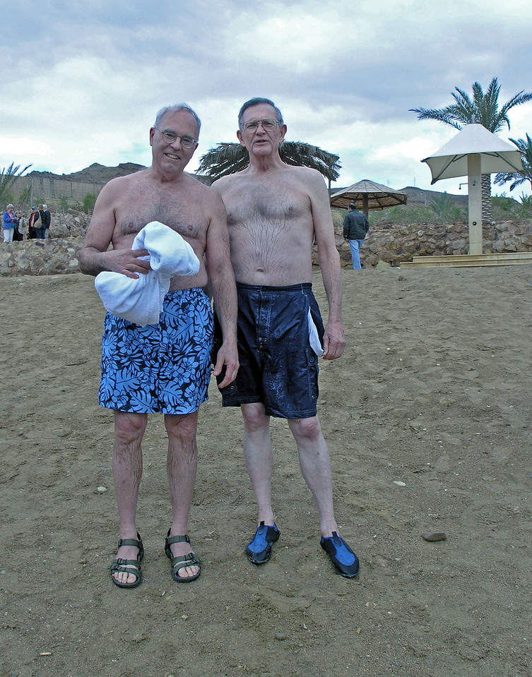 Feb 17.  Bob Wells and I are back from swimming in the Dead Sea.