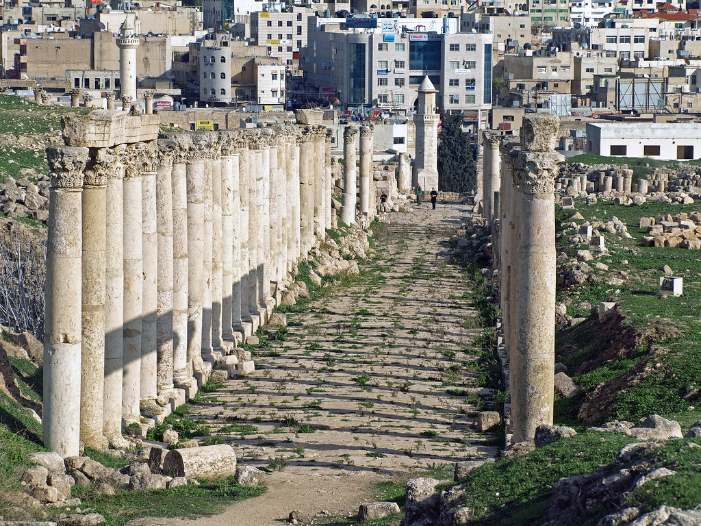 Feb 18.  Another street lined with columns.