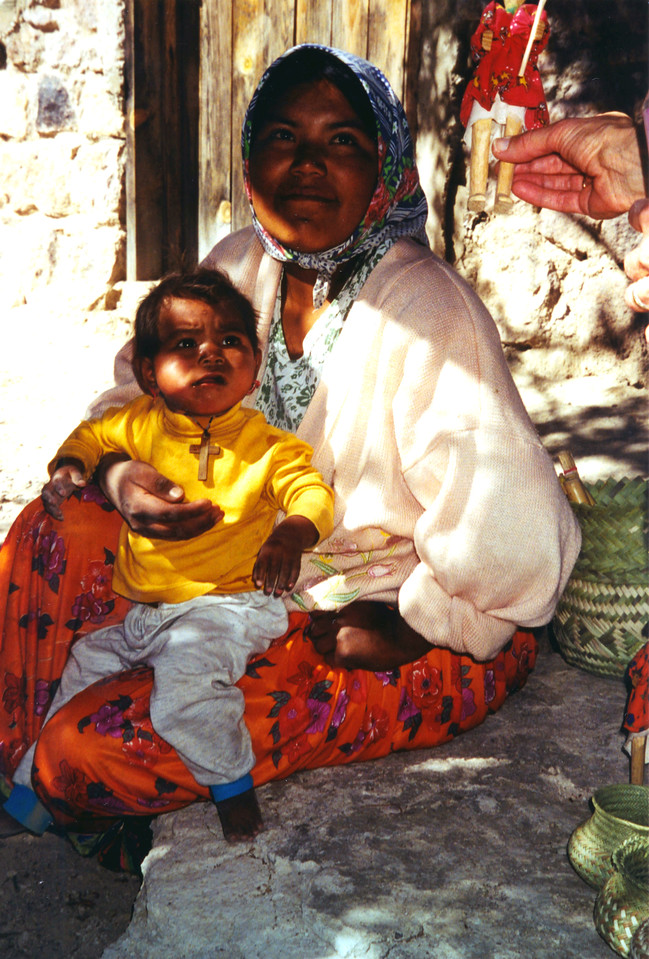 1999-02-20 17 Betty bought this doll.  These Indians have no formal education, but none had trouble stating prices and making change, either in pasos or dollars.