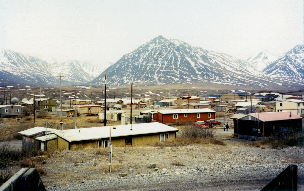 May 30.  This village is Anaktuvuk, Alaska.  This picture was taken from the porch of the small but interesting museum.