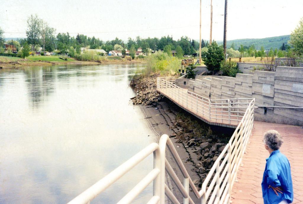 May 29.  The Chenna River flows through Fairbanks.