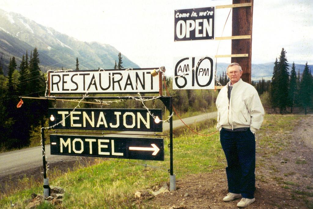 June 1.  We stayed the night in the Tenajon Motel, near Iskut, British Columbia.