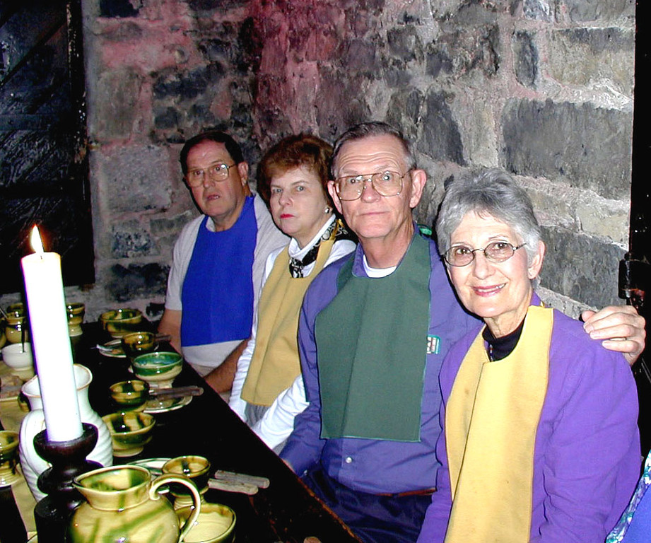 May 15.  That night we had a banquet at Knappogue Castle.  We used bibs as people did long ago.