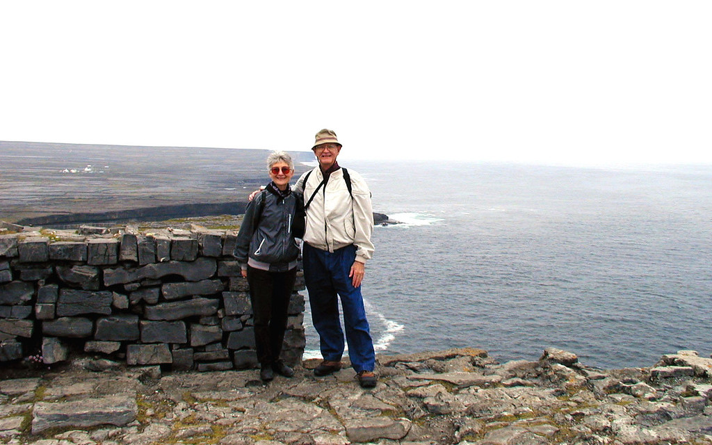 "May 12.  The cliffs of Aran Island are 300 feet high.  The brochure says ""tourists should be very careful because strong winds have been known to blow tourists off the cliffs.""  Also, a tourist would be ""awed and thoroughly humbled.""  It was interesting."
