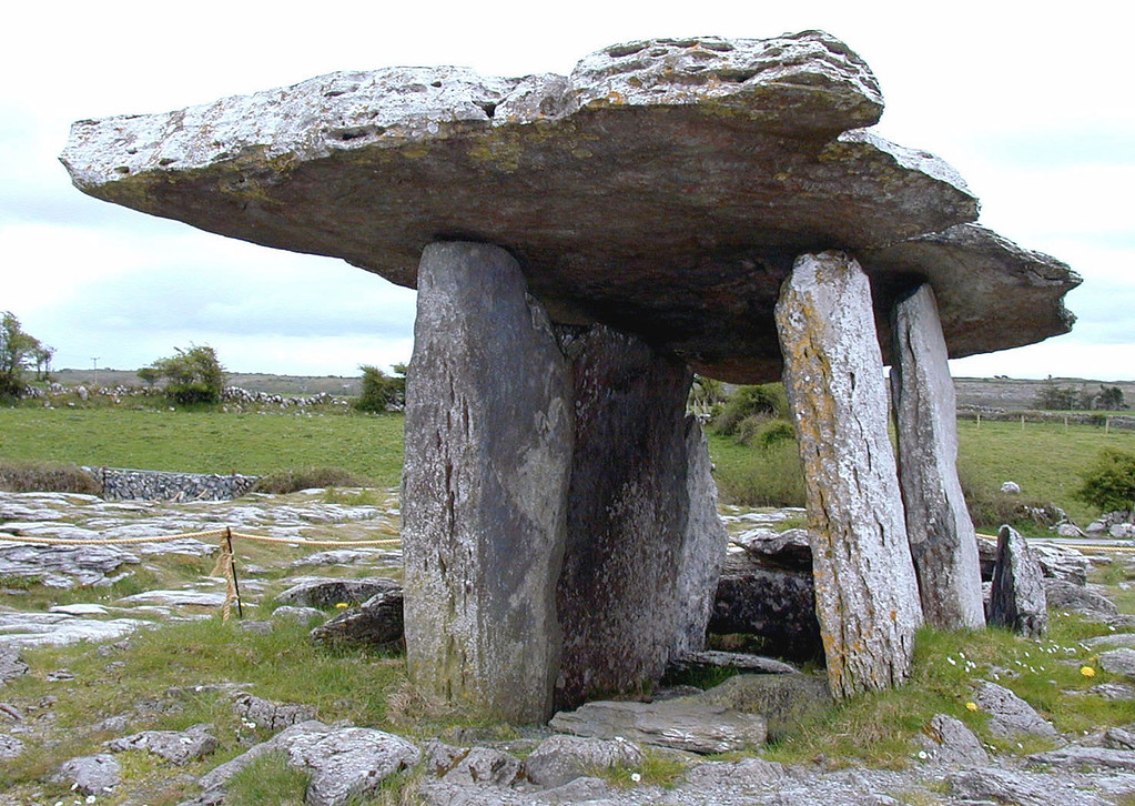 "May 14.  Poulnabrone Dolmen, ""a 5000 year old megalithic burial tomb"" in the Burren, a ""place of unrivaled natural beauty"" and an unusual terrain.  This tomb has at least 22 bodies buried here."