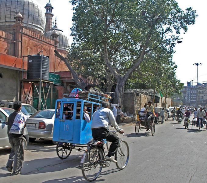 Feb 26.  A rickshaw school bus.