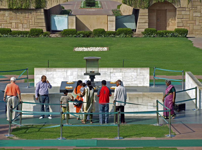 """Feb 26.  Raj Ghat, """"a beautifully serene monument on the bank of the Yamuna River"""" for Mahatma Gandhi.  Actually this is the spot where Gandhi was cremated, and the monument is in memory of that cremation and Gandhi, who is called by some the father, or founder, of the nation of India."""
