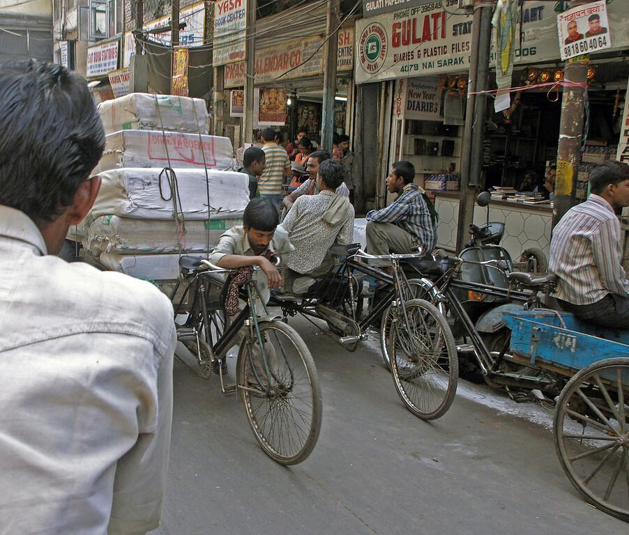 Feb 26.  A rickshaw load too heavy to pedal.