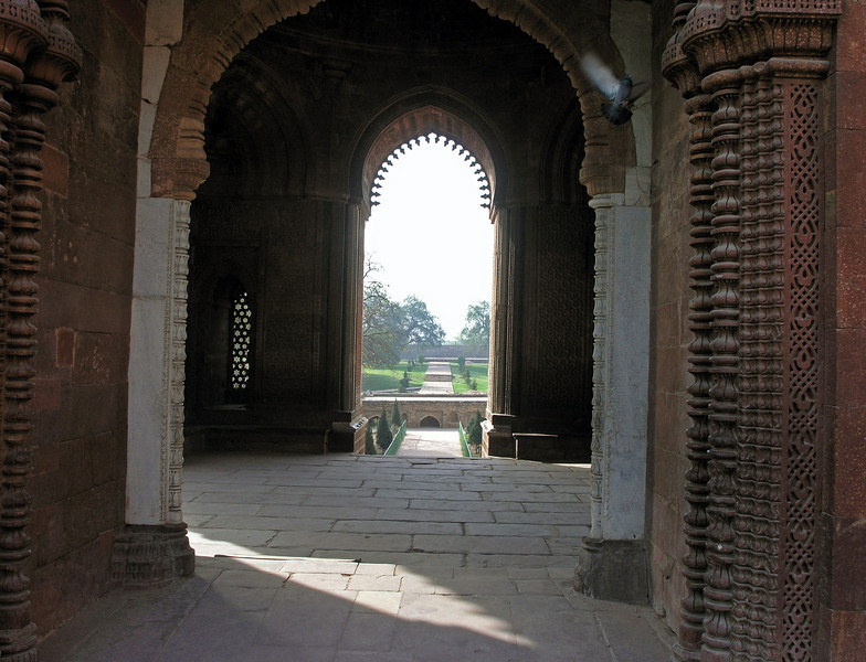 Feb 27.  The grounds of the Qutb Complex are well kept.