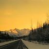 1 05 mile 1340, south of Robinson River crossing, north of Tok, AK, Yukon Terr, Alaska Hwy,  nov 26, 1972c