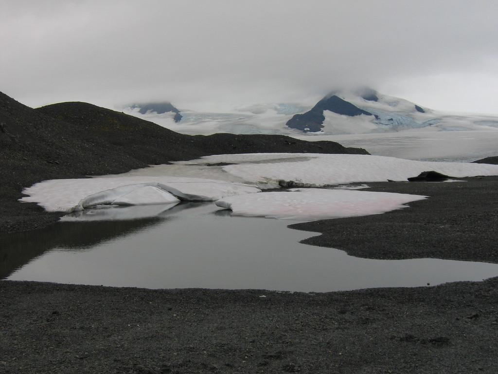 Glacier runoff on the Harding Icefield outside Seward Alaska