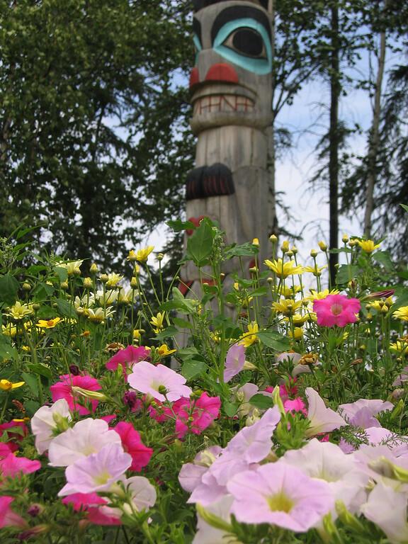 Totem Pole in Fairbanks, Alaska