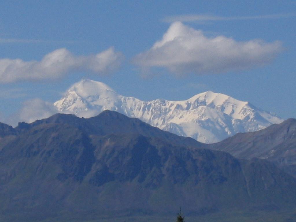 Mount Denali (McKinley) from roadside, Alaska