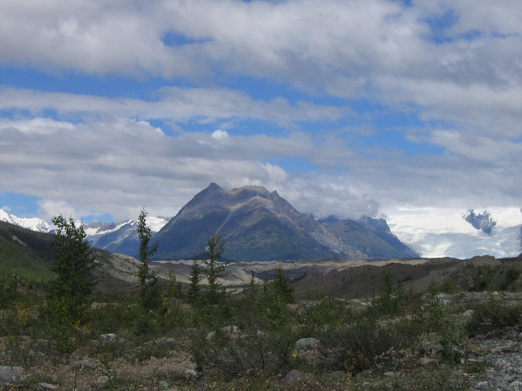 McCarthy view of Root Glacier, Alaska